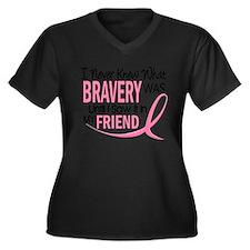 Support cervical cancer awareness teal ribbon Women's Plus Size V-Neck Dark T-Shirt