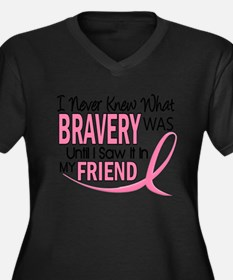 Funny Breast cancer support sister in law Women's Plus Size V-Neck Dark T-Shirt
