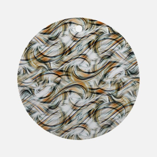 Motion Swirl Wave Print by Juleez Round Ornament