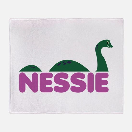 Nessie Monster Throw Blanket