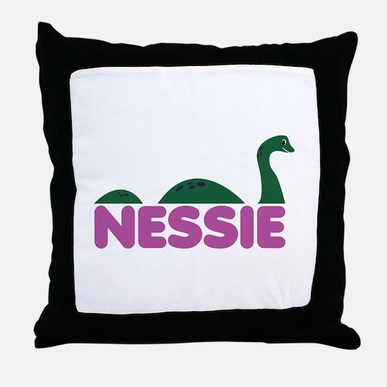 Nessie Monster Throw Pillow