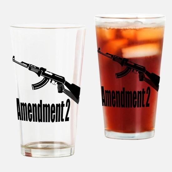 Amendment 2 Drinking Glass