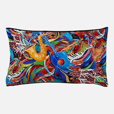 Guitar Piano Sax Music Decor Colorful Pillow Case