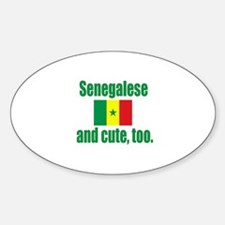Cute Senegalese Oval Decal