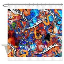 Juleez Music Theme Art Decor Music Shower Curtain