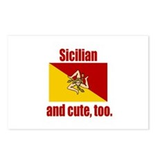 Cute Sicilian Postcards (Package of 8)