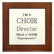choir director Framed Tile