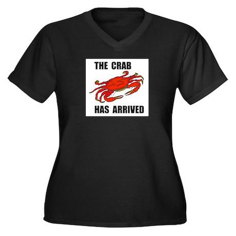 CRAB Women's Plus Size V-Neck Dark T-Shirt