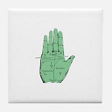 Palmistry Tile Coaster