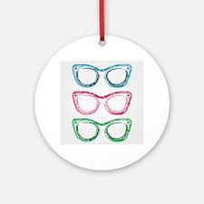 Cute Optician Round Ornament