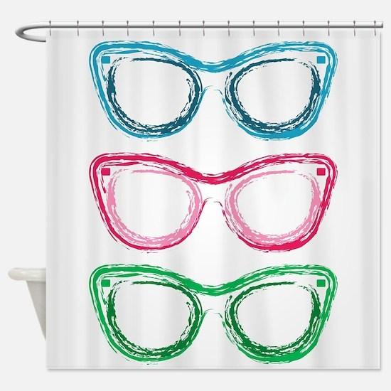 Unique Sunglasses Shower Curtain