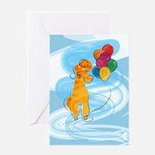Poodle Balloons Greeting Card