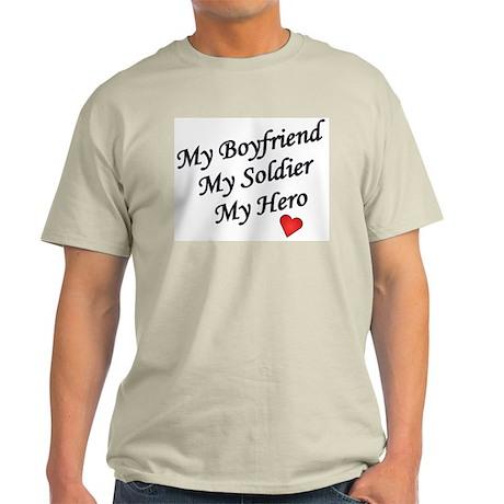 My Boyfriend, Soldier, Hero Ash Grey T-Shirt
