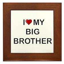 Cute Big brother Framed Tile