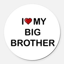 Cute Brother Round Car Magnet