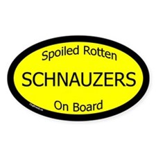 Spoiled Schnauzers On Board Oval Decal