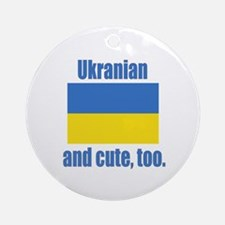 Cute Ukranian Ornament (Round)
