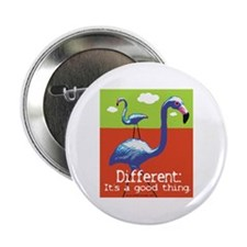 A Different Flamingo Button