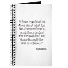 President Reagan on Ten Commandments Journal