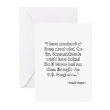 President Reagan on Ten Commandments Greeting Card