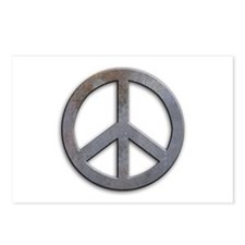 Distressed Metal Peace Sign Postcards (Package of