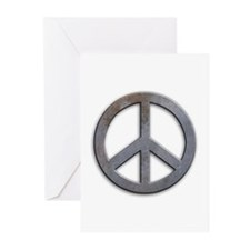 Distressed Metal Peace Sign Greeting Cards (Pk of
