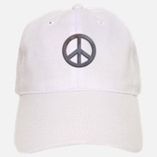 Distressed Metal Peace Sign Baseball Baseball Cap