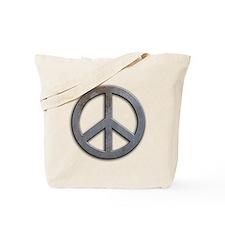 Distressed Metal Peace Sign Tote Bag