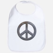 Distressed Metal Peace Sign Bib
