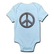 Distressed Metal Peace Sign Infant Bodysuit