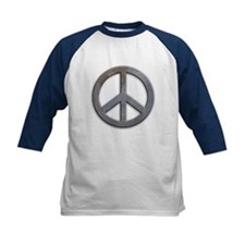 Distressed Metal Peace Sign Tee