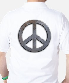 Distressed Metal Peace Sign T-Shirt