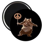 Peace Hamster Magnet (10 pack)