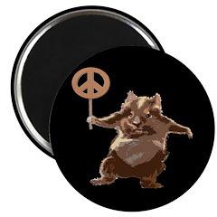 Peace Hamster (Magnet)