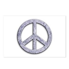 Marble Texture Peace Sign Postcards (Package of 8)