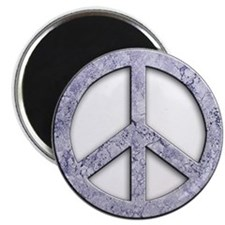 """Marble Texture Peace Sign 2.25"""" Magnet (10 pack)"""