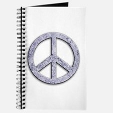 Marble Texture Peace Sign Journal