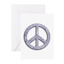 Marble Texture Peace Sign Greeting Cards (Pk of 10