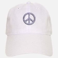 Marble Texture Peace Sign Baseball Baseball Cap