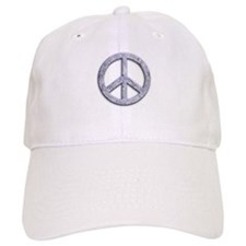 Marble Texture Peace Sign Baseball Cap