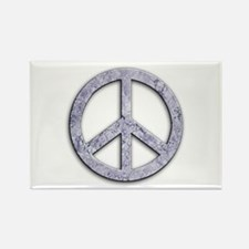 Marble Texture Peace Sign Rectangle Magnet