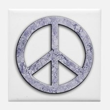 Marble Texture Peace Sign Tile Coaster