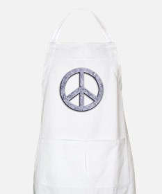 Marble Texture Peace Sign BBQ Apron