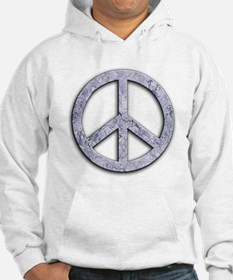 Marble Texture Peace Sign Hoodie