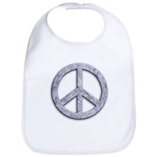 Marble Texture Peace Sign Bib