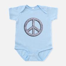 Marble Texture Peace Sign Infant Bodysuit
