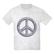 Marble Texture Peace Sign T-Shirt