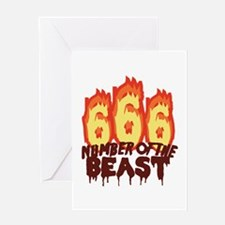 Number Of Beast Greeting Cards