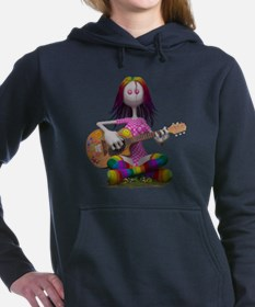 Hippy Chick ~ Peace and  Women's Hooded Sweatshirt
