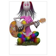 Hippy Chick ~ Peace and Love Poster